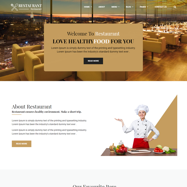 A New Hotel & Resturant Website