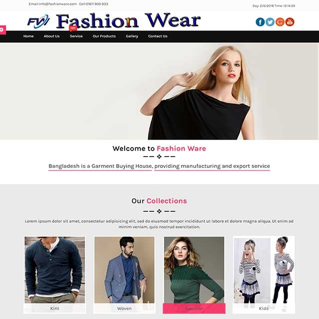Clothing & Fashion website
