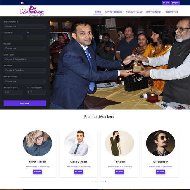 Marriage Media Website Design