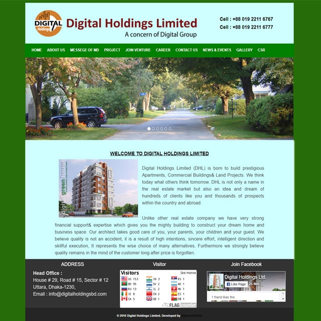 Real Estate & Land Developer website