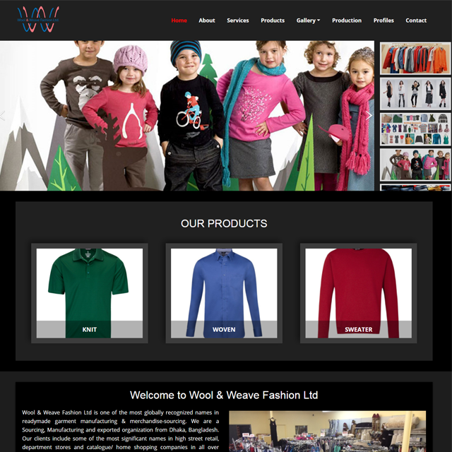 Garments Buying House Website
